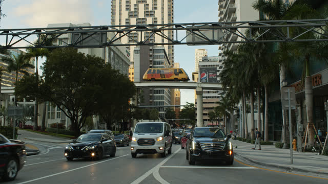 afternoon traffic in miami - miami dade county stock videos & royalty-free footage