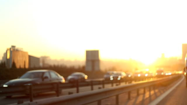 afternoon traffic - sunset drive - misfortune stock videos & royalty-free footage