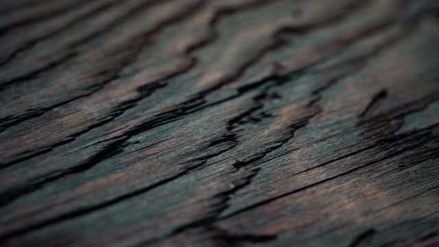 aged wood material close-up. dolly shot - wooden floor stock videos & royalty-free footage