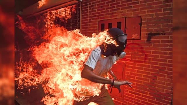 agence france presse photographer ronaldo schemidt of venezuela wins the prestigious 2018 world press photo of the year award with this fiery image... - stereotypically upper class stock videos & royalty-free footage