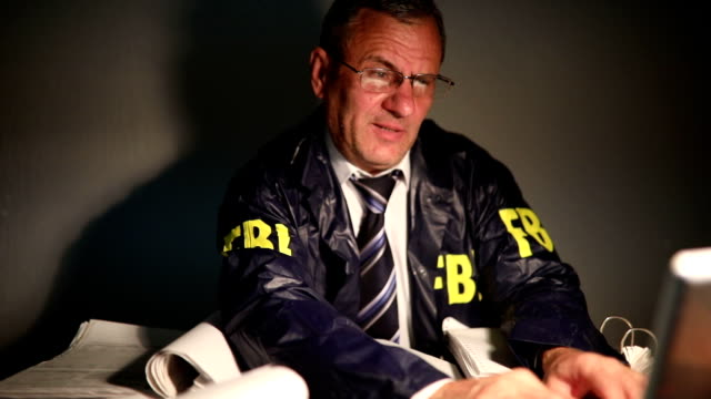 agent working late - fbi stock videos & royalty-free footage