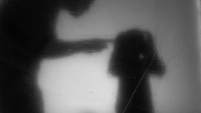 padre aggressivo - in silhouette video stock e b–roll
