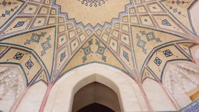 vidéos et rushes de agha bozorg mosque, kashan city, kavir desert, iran, western asia, asia, middle east - tour d'azadi
