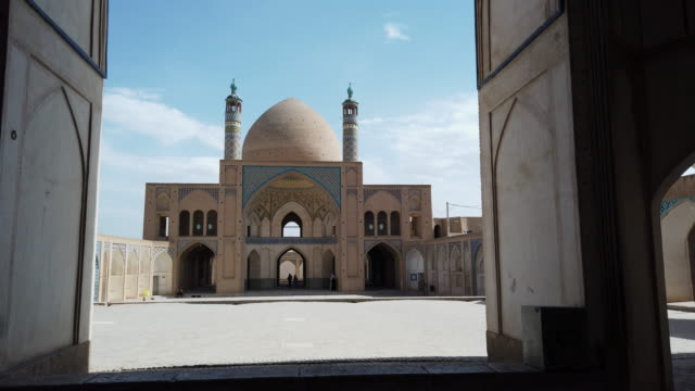 agha bozorg mosque, kashan city, kavir desert, iran, western asia, asia, middle east - mosque stock videos & royalty-free footage