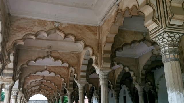 agra fort uttar pradesh, india - palace stock videos & royalty-free footage