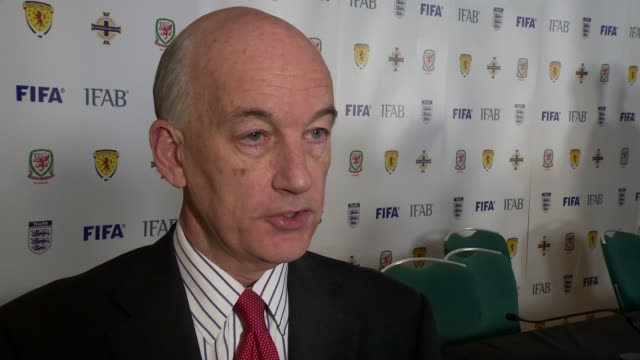 FIFA agree to introduce instant goalline video replay technology Elleray interview WALES Cardiff INT David Elleray interview SOT REFEREES When we...
