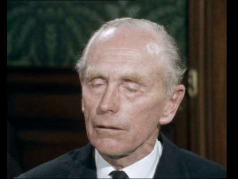 """agreement reached for independence settlement; england: london: int sir alec douglas-home sof: """"well be must go...or not as they wish"""": - alec douglas home video stock e b–roll"""