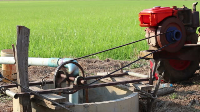 agricultural engine pumping from the groundwater. - groundwater stock videos and b-roll footage