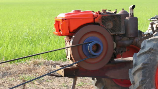 agricultural engine running. - cambodia stock videos and b-roll footage
