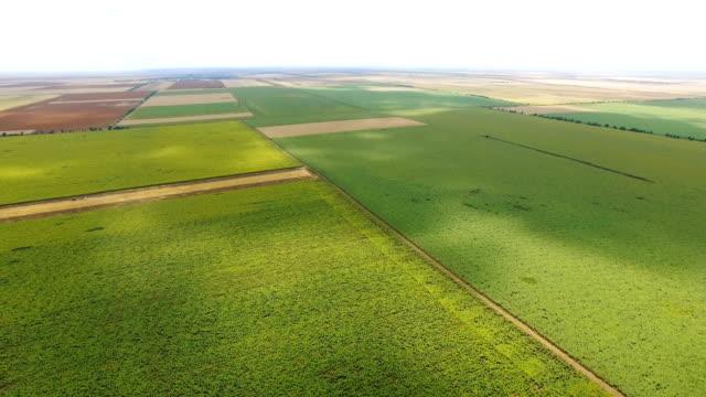 vídeos y material grabado en eventos de stock de antena: terreno agrícola con campos arados en el otoño - tierra cultivada