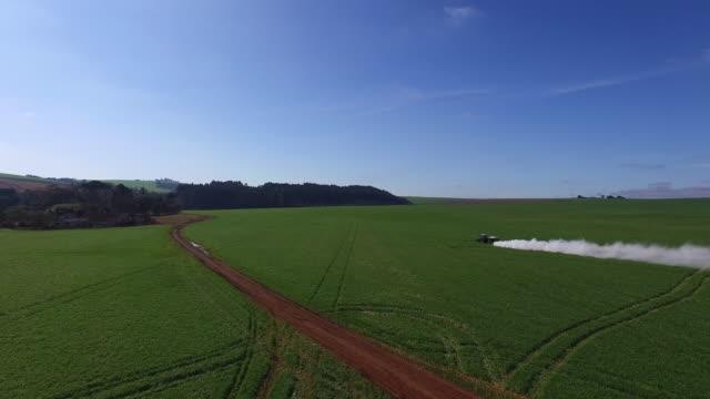 agriculture aerial - soybean field - brasilien stock-videos und b-roll-filmmaterial