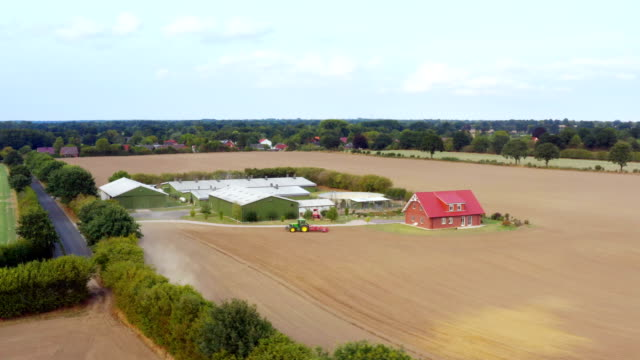 agriculture field aerial view - schleswig holstein stock videos & royalty-free footage