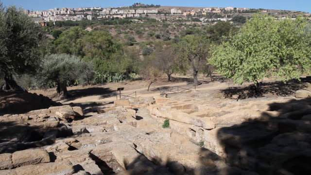 Agrigento, Byzantine arcosolium burial chambers, and the remains of the early Christian necropolis