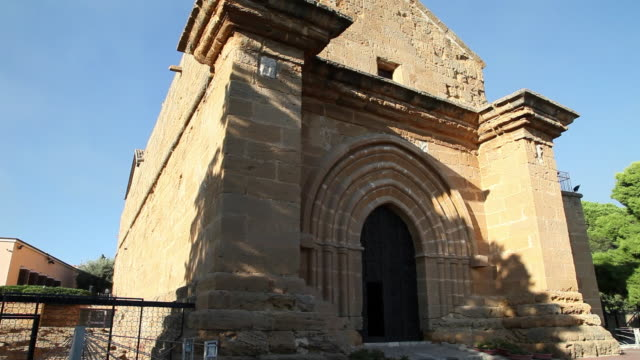 agrigento, exterior view of the church of saint nicolas, 13th century - circa 13th century stock videos and b-roll footage
