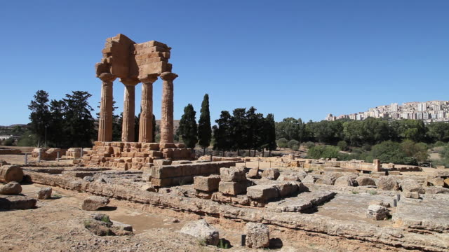 Agrigento, Temple of Castor and Pollux in the valley of the temples
