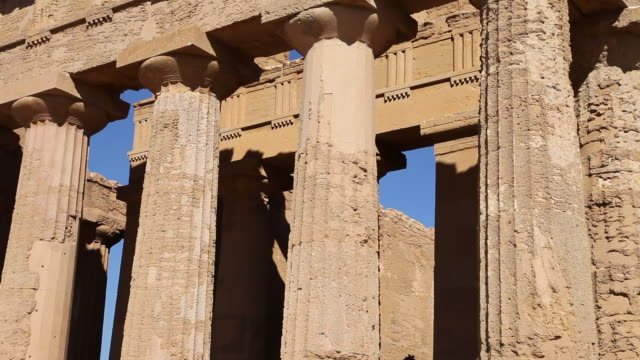 agrigento, temple of concord, a splendid example of doric architecture, 4th century b.c. - 4th century bc stock videos and b-roll footage