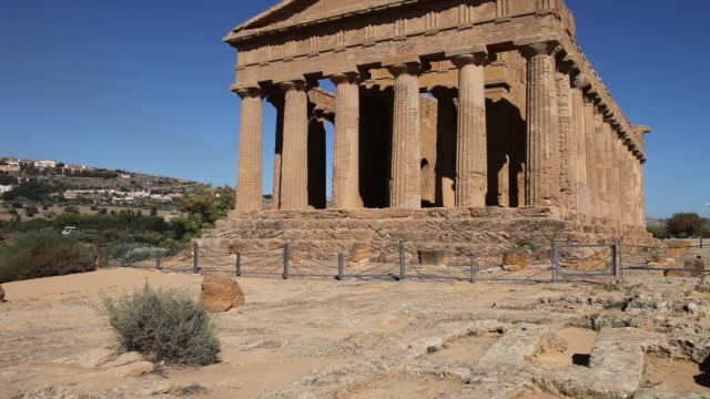 Agrigento, temple of Concord, a splendid example of Doric architecture, 4th century B.C.