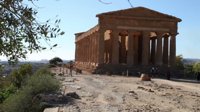 agrigento, temple of concord, a splendid example of doric architecture, 4th century b.c. - zeus stock videos and b-roll footage
