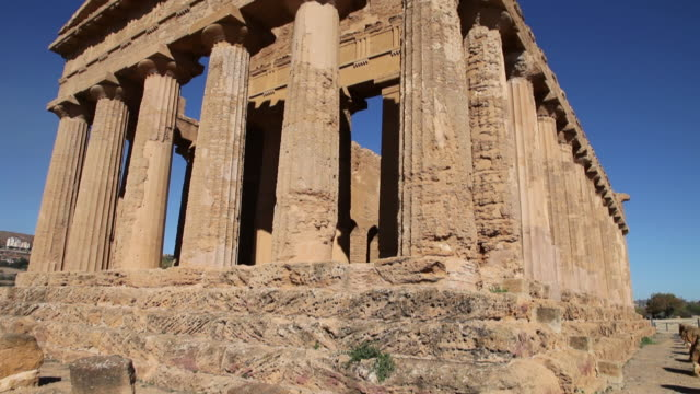 agrigento, temple of concord, a splendid example of doric architecture, 4th century b.c. - circa 4th century stock videos & royalty-free footage