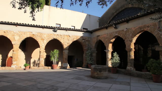 Agrigento, the courtyard of the archaeological museum