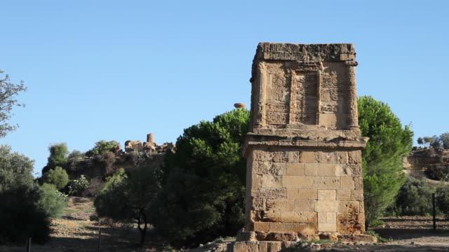 Agrigento, the tomb of Theron, Roman period, near the ancient Porta Aurea