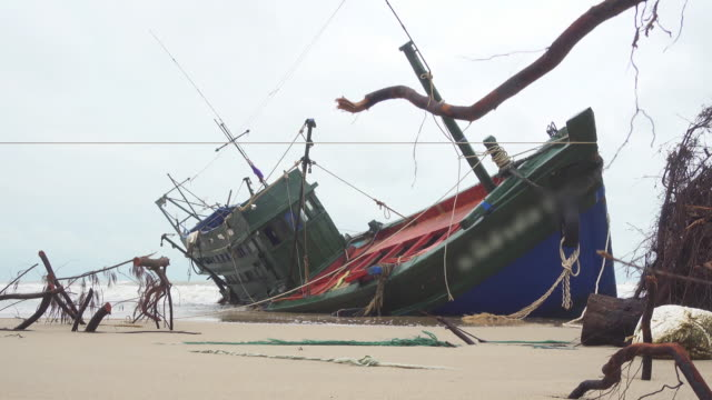 aground boat - stranded stock videos and b-roll footage