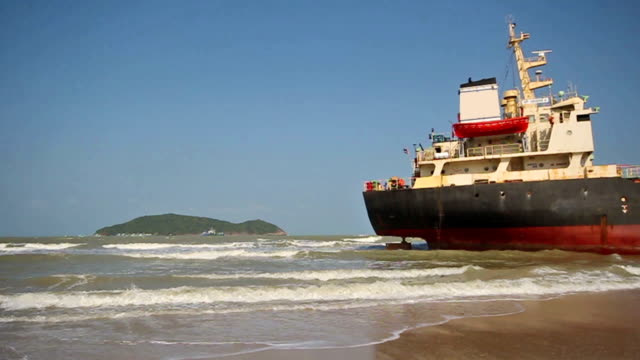 aground ship - stranded stock videos and b-roll footage
