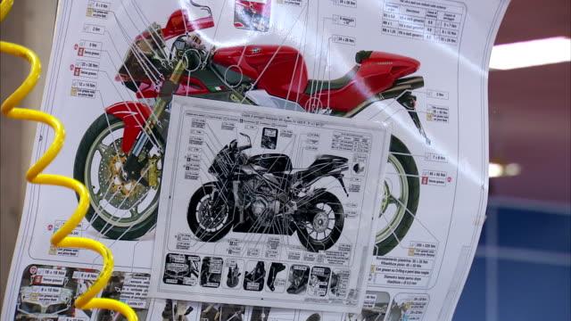 mv agusta f4 schematics. - poster layout stock videos & royalty-free footage