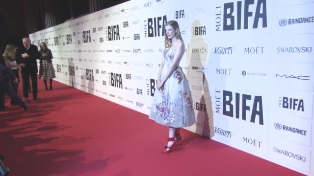 Agyness Deyn at The Moet British Independent Film Awards at The Old Billingsgate on December 6 2015 in London England