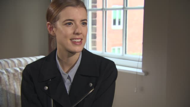 INTERVIEW Agyness Deyn on her up and coming project 'Sunset Song' at 'Electricity' Interviews on December 11 2014 in London England