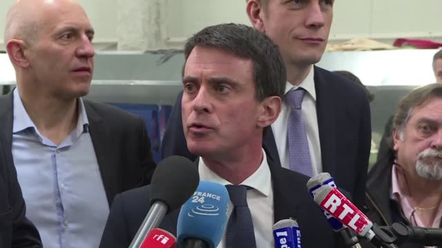 ahead of sunday's socialist party primary run-off candidate manuel valls says france's presidential election is still wide open amid claims francois... - runoff election stock videos & royalty-free footage