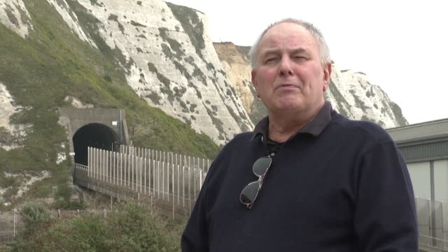 ahead of the 25th anniversary of the 6 may 1994 opening of the channel tunnel retired mining worker graham fagg recalls the moment he broke through... - la manica video stock e b–roll