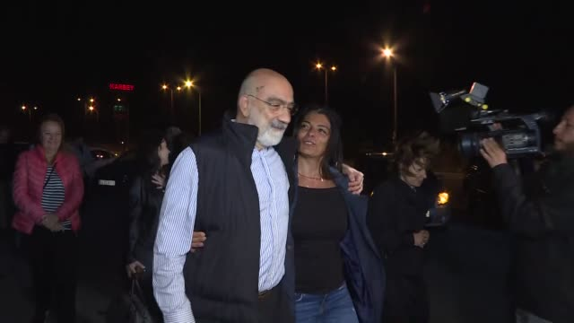 ahmet altan who was convicted for having links to fetullah terror group was released under judicial control on november 04 2019 in istanbul turkey a... - legal system stock videos and b-roll footage