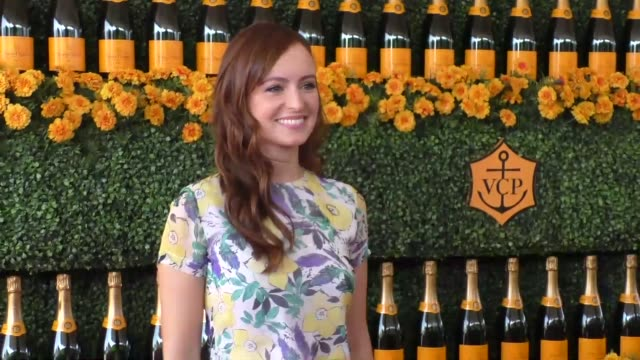 Ahna O'Reilly at the sixth annual Veuve Clicquot Polo Classic at Will Rogers Historic State Park in Pacific Palisades at Celebrity Sightings in Los...