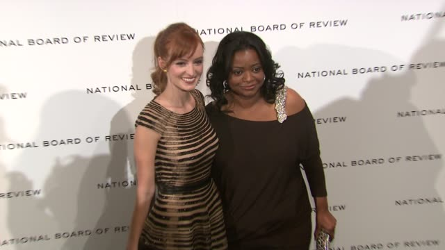 Ahna O'Reilly Octavia Spencer at National Board of Review Awards Gala Red Carpet at Cipriani 42nd Street on 1/10/2012 in New York City NY