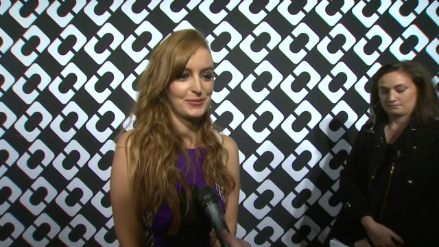 interview ahna o'reilly on being a part of the night and what she appreciates about diane von furstenberg what she loved about her dress for the... - wrap dress stock videos and b-roll footage