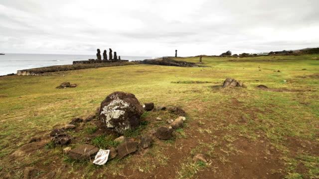 Ahu Tahai archaeologhycal site near Hanga Roa