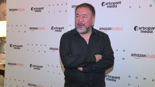 Ai Weiwei at 'Human Flow' New York Screening> at the Whitby Hotel on October 09 2017 in New York City