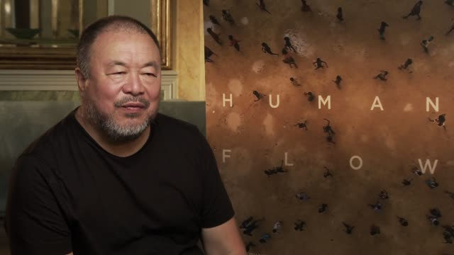 INTERVIEW Ai Weiwei on having natural sympathy for unfortunate people on seeking for identity at 'Human Flow' Interview 74th Venice International...