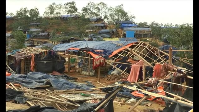 aid workers warned of an acute crisis in bangladesh after a cyclone destroyed thousands of homes and devastated camps housing rohingya refugees... - south asia stock videos & royalty-free footage