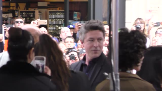 aidan gillen arriving to the game of thrones premiere at tcl chinese theatre in hollywood in celebrity sightings in los angeles - aidan gillen stock videos & royalty-free footage