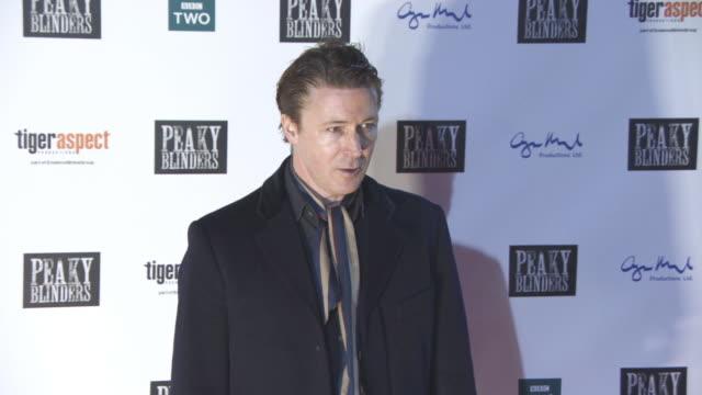 aidan gillen at 'peaky blinders' birmingham premiere at cineworld on october 30 2017 in birmingham england - aidan gillen stock videos & royalty-free footage