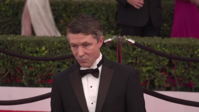 aidan gillen at the 22nd annual screen actors guild awards arrivals at the shrine auditorium on january 30 2016 in los angeles california 4k - shrine auditorium stock videos & royalty-free footage