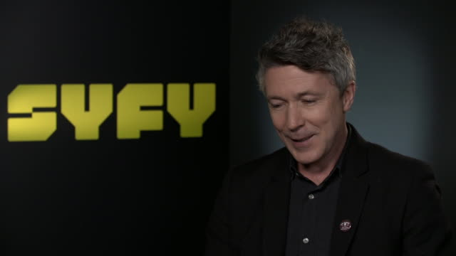 interview aidan gillen on how he'll watch the new series of 'game of thrones' on playing the character of 'littlefinger' and how he was looking for a... - aidan gillen stock videos & royalty-free footage