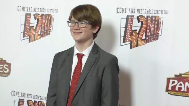 Aidan Miner at the Opening Night Of 42nd Street at the Pantages Theatre in Hollywood in Celebrity Sightings in Los Angeles