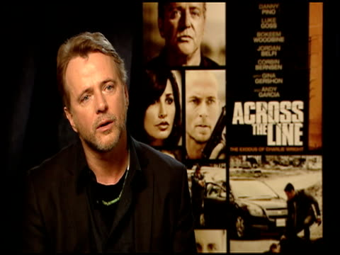 aidan quinn on preparing for the film at the 'across the line the exodus of charlie wright' junket at los angeles ca - aidan quinn stock videos & royalty-free footage