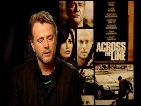 aidan quinn on the conscience of his character in the film at the 'across the line the exodus of charlie wright' junket at los angeles ca - aidan quinn stock videos & royalty-free footage