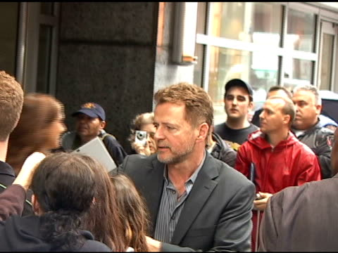 aidan quinn signs autographs as he departs the nbc upfronts in new york 05/16/11 - aidan quinn stock videos & royalty-free footage