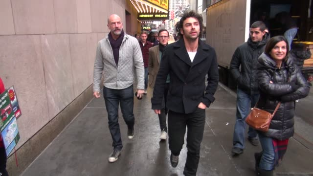 aidan turner graham mctavish and adam brown at the vh1 studios in new york ny on 12/7/12 - vh1 stock videos & royalty-free footage