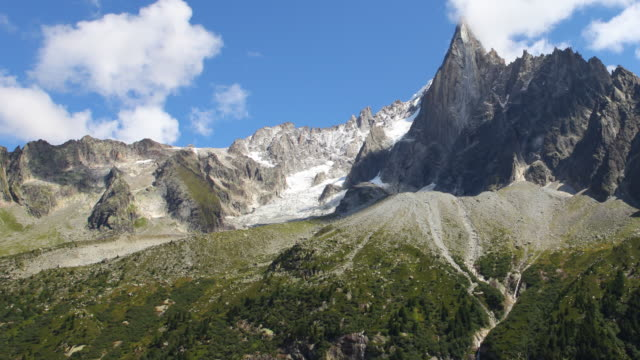 aiguille du dru time lapse video 4k - mont blanc stock videos & royalty-free footage